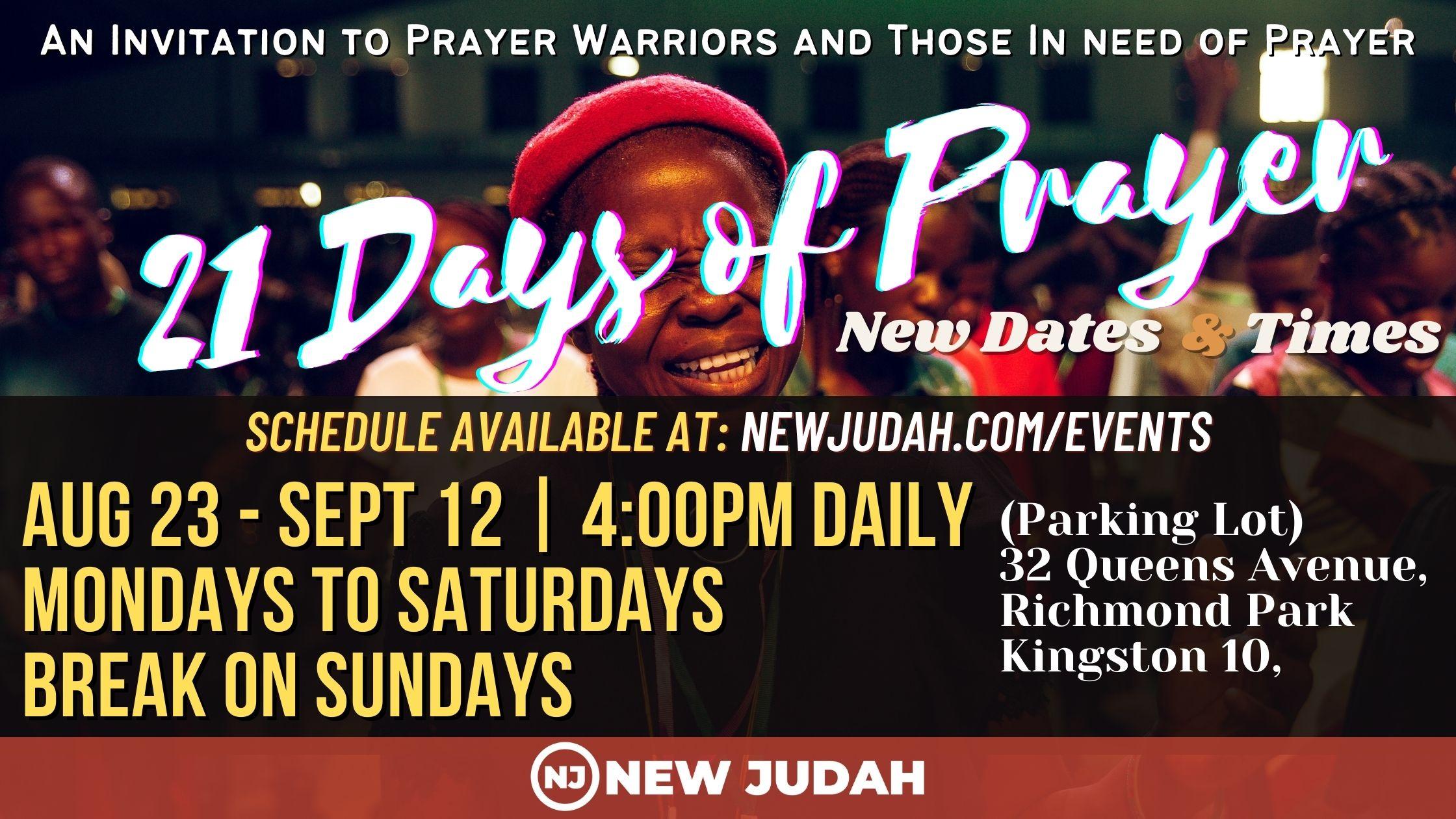 21 Days of Prayer Conference